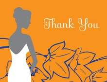 Wonderful Bride Orange Thank You Cards