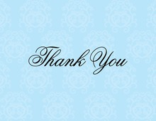 Modern Quirky Blue Thank You Cards