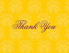 Modern Quirky Yellow Thank You Cards