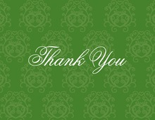 Modern Quirky Green Thank You Cards