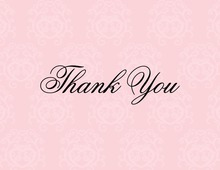 Modern Quirky Pink Thank You Cards