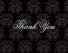 Modern Quirky Black Thank You Cards