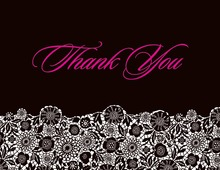 Black Patterned Thank You Cards