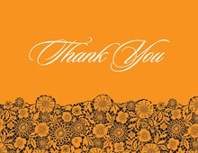 Orange Patterned Thank You Cards