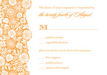 Orange Patterned RSVP Cards
