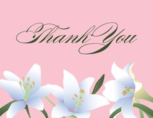 Velvet Lilies Pink Thank You Cards