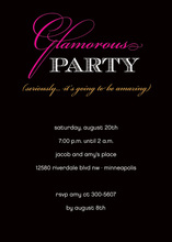 Glamorous Modern Party Invitations in Black