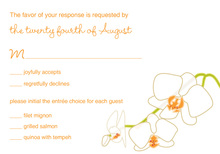 Blooming Orchid Orange RSVP Cards