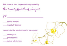 Blooming Orchid Purple RSVP Cards
