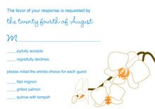 Blooming Orchid Blue RSVP Cards