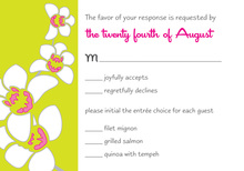Modern Orchid Lime RSVP Cards
