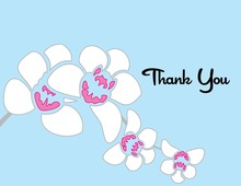 Modern Orchid Blue Thank You Cards