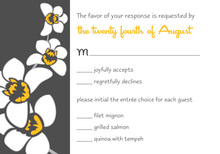 Modern Orchid Grey RSVP Cards