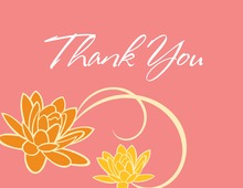 Floral Breeze Pink Thank You Cards