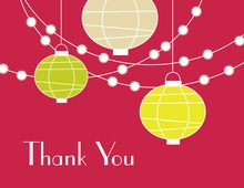 Lantern Glow Red Thank You Cards