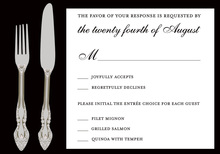 Cutlery Black RSVP Cards