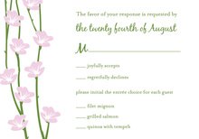 Floral String Green RSVP Cards