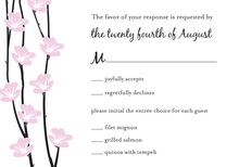 Floral String White RSVP Cards