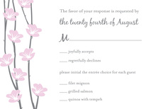 Floral String Grey RSVP Cards