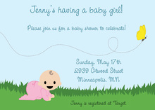 Chasing Butterflies Girl Invitation