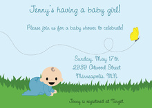 Chasing Butterflies Boy Invitation