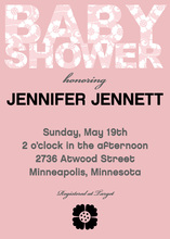 Baby Patterns Pink Shower Invitation