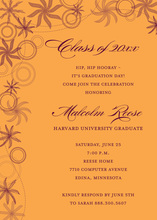 Superb Whimsy Flower In Orange Whimsical Invitations