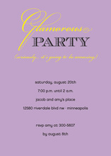 Glamorous Lavender Party Invitations