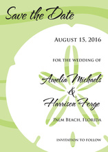 Bold Sand Dollar Green Invitation