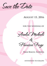 Bold Sand Dollar Pink Invitation