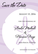 Bold Sand Dollar Lavender Wedding Invitations