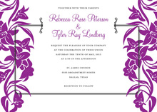 Lavender Side Bouquet Bridal Shower Invitations