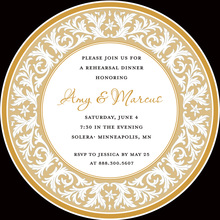 Brown Decorative Plate Rehearsal Dinner Invitations