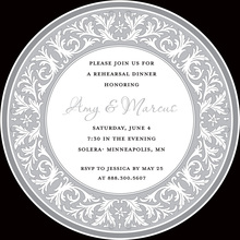 Lavender Decorative Plate Rehearsal Dinner Invitations