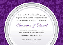 Elegant Purple Traditional Dinner Party Invitations
