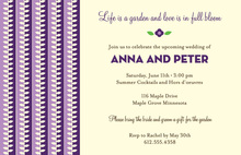 Modern Lavender Leaves Party Shower Invitations