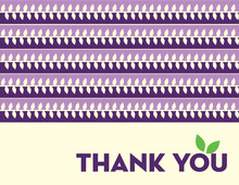 Modern Purple Leaves Thank You Cards