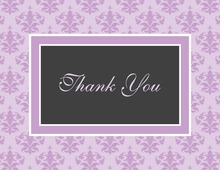 Modern Damask Lavender Thank You Cards