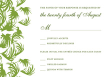 Swaying Palms Lime RSVP Cards