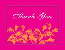 Swaying Palms Pink Thank You Cards