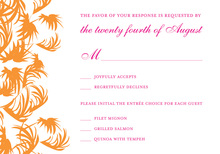 Swaying Palms Pink RSVP Cards