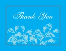 Swaying Palms Blue Thank You Cards
