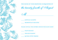 Swaying Palms Blue RSVP Cards