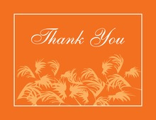 Swaying Palms Orange Thank You Cards