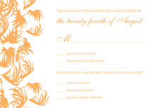 Swaying Palms Orange RSVP Cards