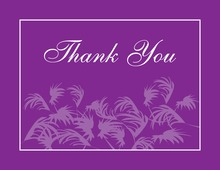 Swaying Palms Purple Thank You Cards