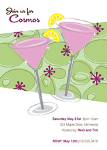 Pink Summer Birthday Celebration Cocktails Invitation
