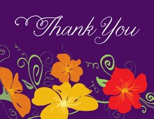 Modern Jubilee Purple Thank You Cards