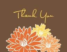 Peach Blooms Thank You Cards