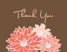 Pink Blooms Thank You Cards